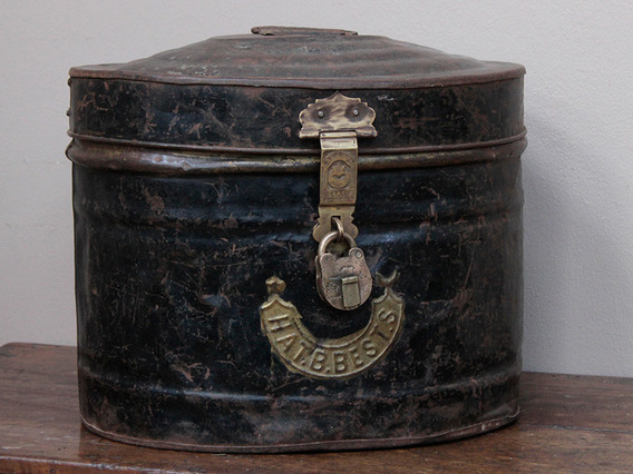 View our  Vintage Metal Hat Tin from the   collection