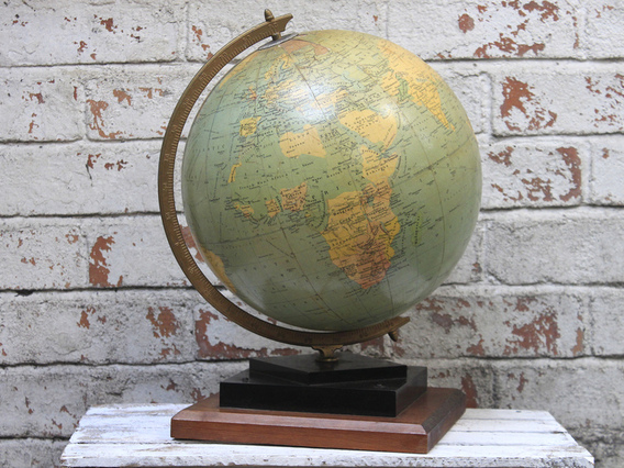 Vintage Globe By George Philip And Son