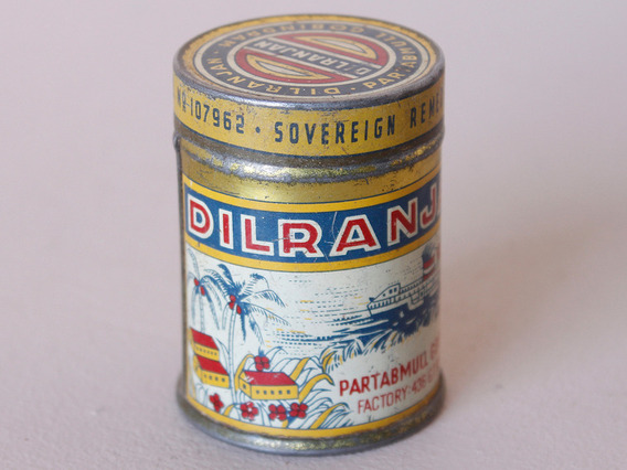 View our  Vintage Medicine Tin from the  Old Travel Trunks collection