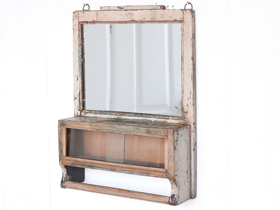 View our  Vintage White Wall Mirror from the  Sold collection