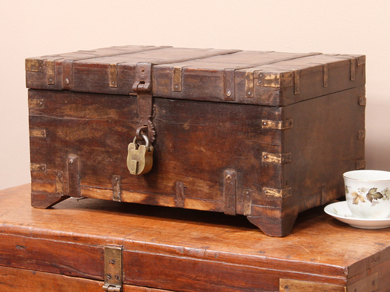 Wooden And Brass Chest