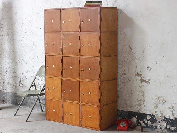 Vintage Wooden Lockers