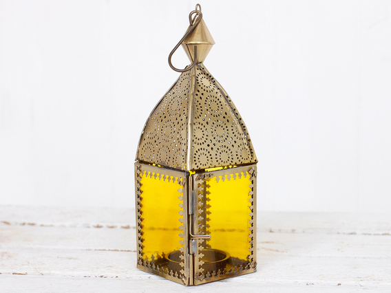 View our  Yellow Glass Lantern from the   collection
