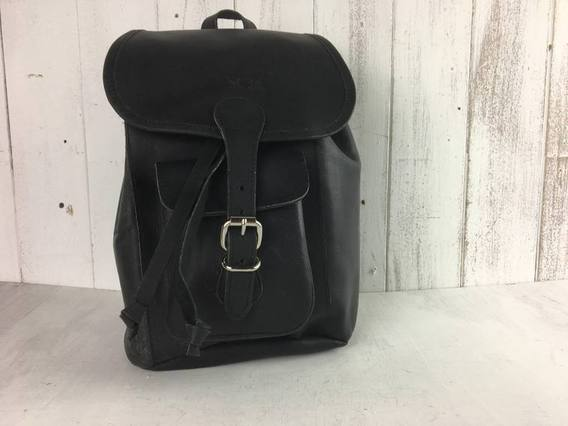 SECONDS Black Mini Boho Backpack