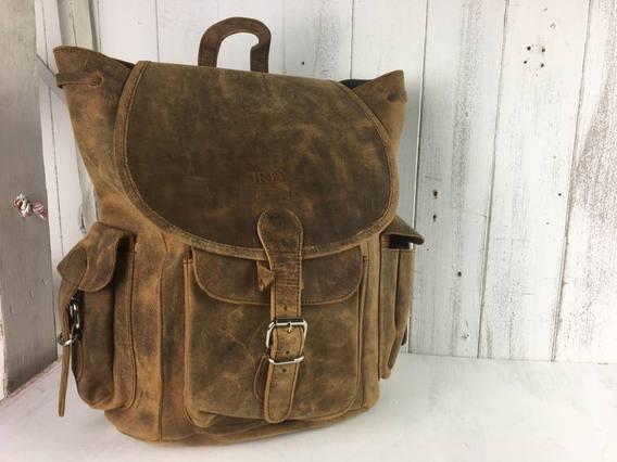 SECONDS Boho Leather Backpack Large