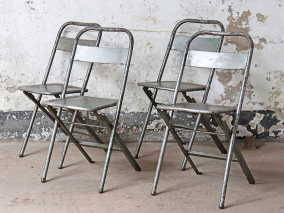 View our  Silver Vintage Folding Chair from the   collection
