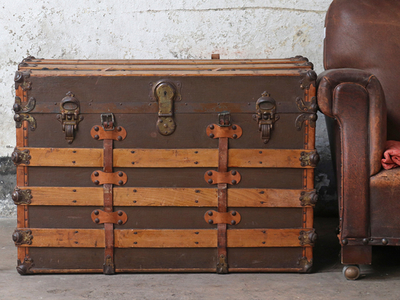View our  Vintage Steamer Trunk from the  For The Home collection