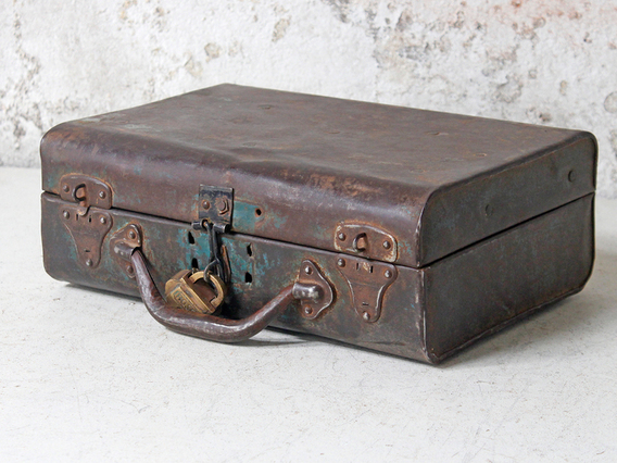 View our  Small Distressed Vintage Metal Suitcase from the   collection