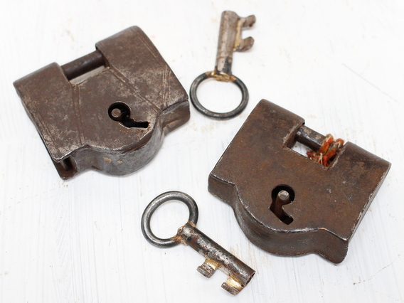 View our  Small Iron Antique Padlock  from the   collection