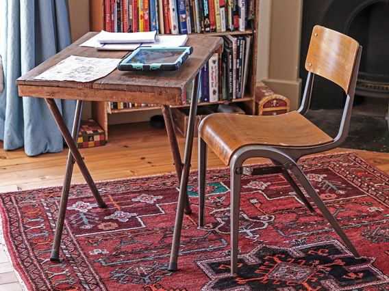 Small Vintage Desk - Home Working