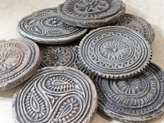 Small Vintage Stone Coaster