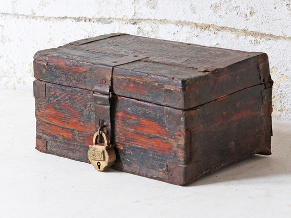 View our  Small Wooden Treasure Chest from the   collection