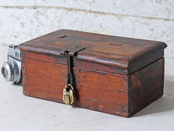 Rustic Teak Money Box