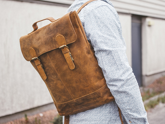 View our Men Soho Leather Backpack For Men from the Men  collection