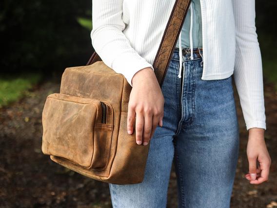Women's Retro Leather Shoulder Bag