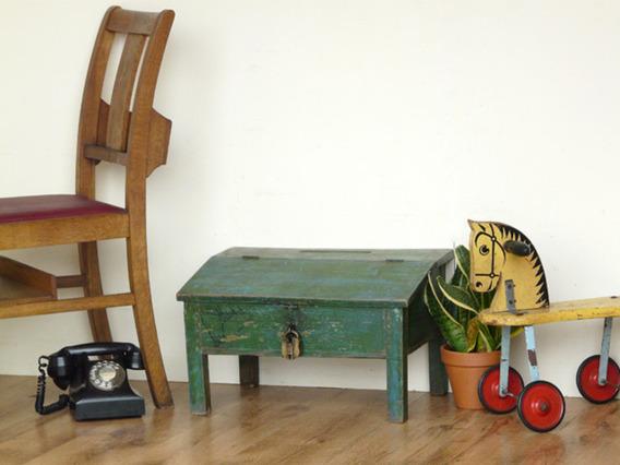 Old Green Desk