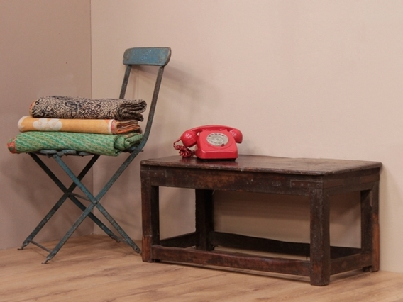 View our  Vintage Wooden Bench Table from the   collection