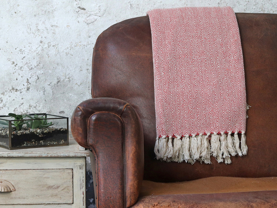 View our  Tea Rose Herringbone Weave Cotton Throw from the  Soft Furnishings collection