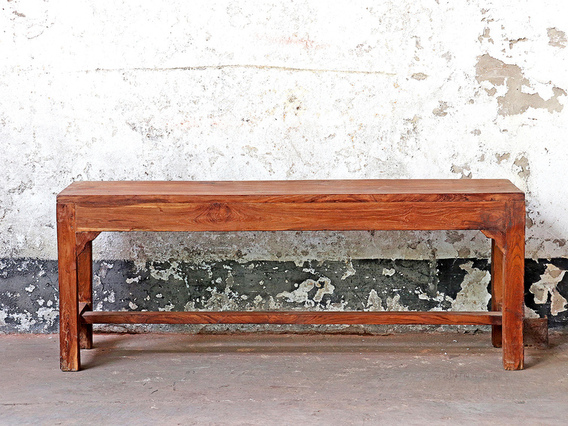 View our  Teak Vintage Bench from the  Hallway collection