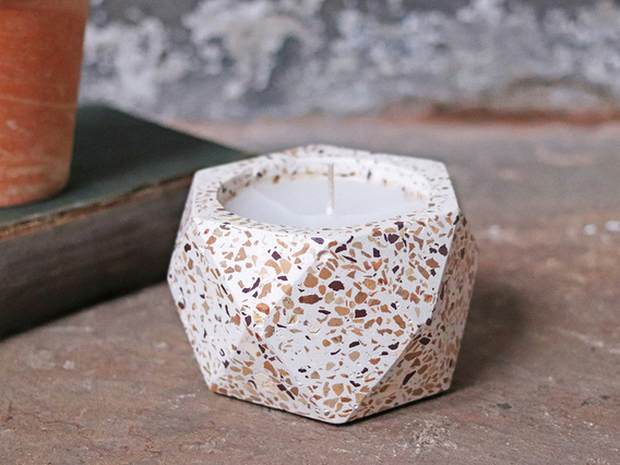 View our  Terrazzo Candle Holder with Candle from the  Glassware/Tableware collection