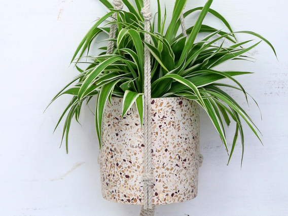 View our  Terrazzo Hanging Plant Pot from the   collection