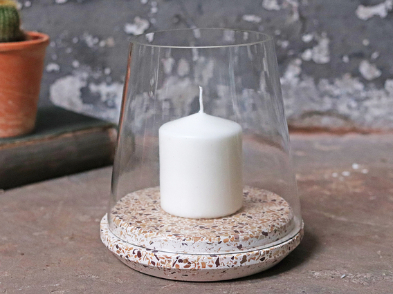 View our  Terrazzo Hurricane Candle Holder from the   collection