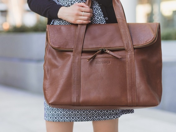 View our  The LouLou Leather Tote from the  Handbags collection