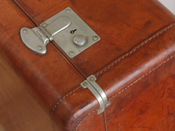 Vintage VICTOR Leather Suitcase