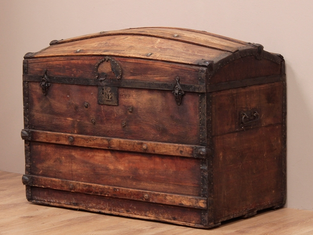 View our  Antique Victorian Domed Pine Chest from the   collection