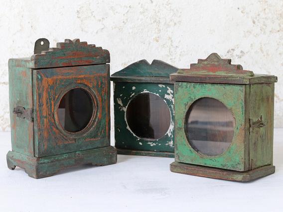 Vintage Mini Wall Cabinet - Green