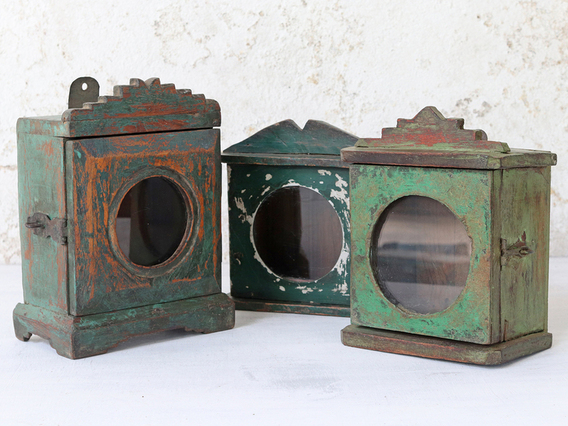 View our  Vintage Mini Wall Cabinet - Green from the  Sold collection