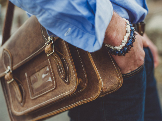 View our  Classic Distressed Leather Satchel 13 Inch from the   collection