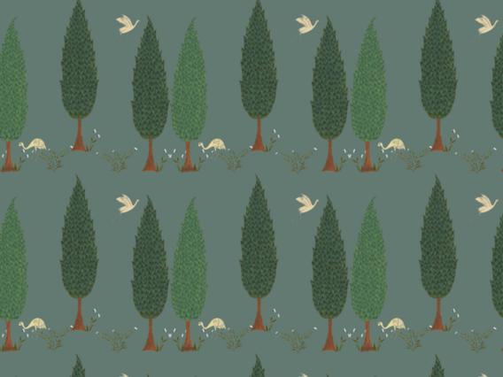 Tranquility Wallpaper - Asparagus Green - TR1902AG
