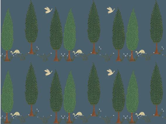 Tranquility Wallpaper - Star Shine Blue