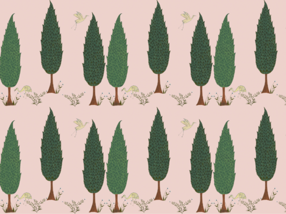 Tranquility Wallpaper Sample: Blossom Pink-TR1902BPS