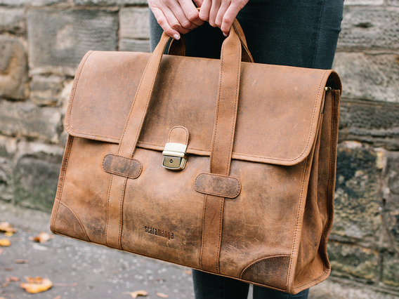 View our  The Carter Leather Briefcase from the  Work Gifts collection
