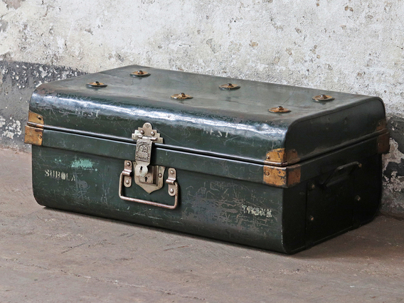 View our  Green Travel Trunk from the  Old Travel Trunks collection
