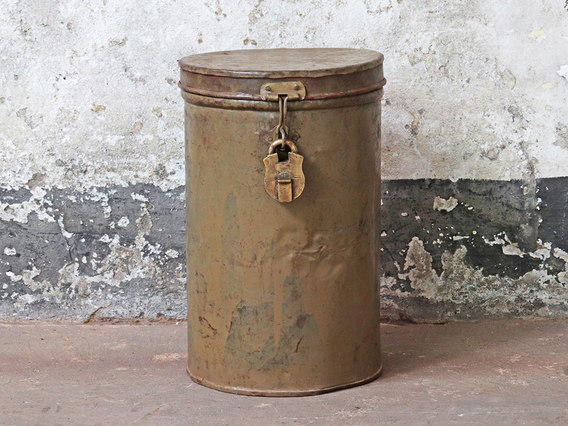 View our  Brown Vintage Storage Drum from the  Old Travel Trunks collection