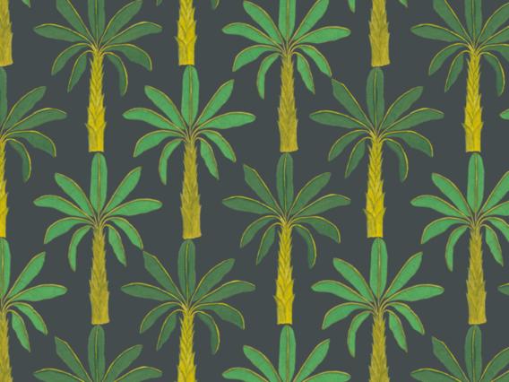 Tropical Wallpaper: Mallard Green-T1902MGS
