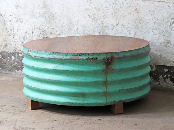 Upcycled Coffee Table - Green