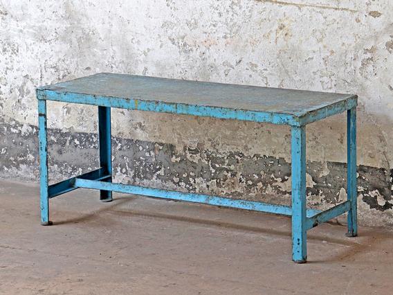 Vintage Blue Bench