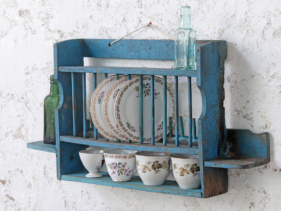 View our  Vintage Blue Kitchen Rack from the  Sold collection