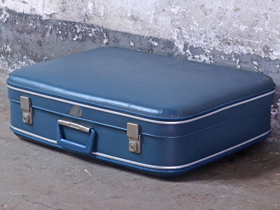 View our  Vintage Blue Suitcase from the   collection