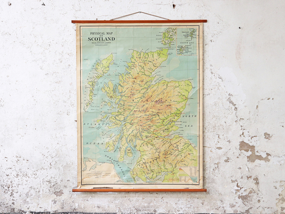 View our  Vintage Canvas Wall Map Of Scotland  from the   collection