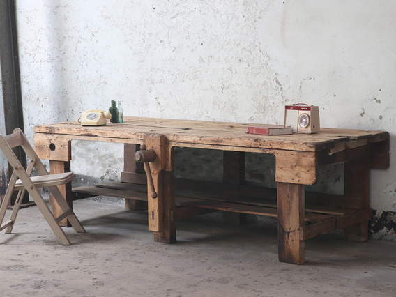 View our  Antique Carpenter's Workbench Table from the   collection