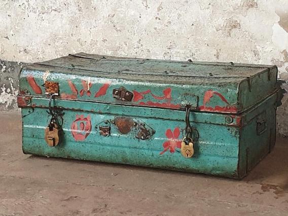 Turquoise Metal Suitcase