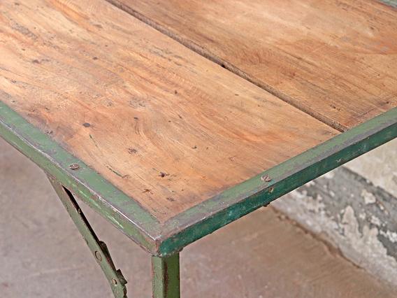 Vintage Folding Table - Green