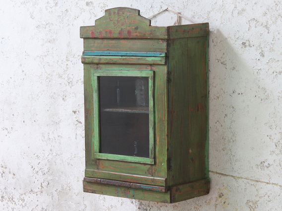 View our  Vintage Green Wall Cabinet from the  Sold collection