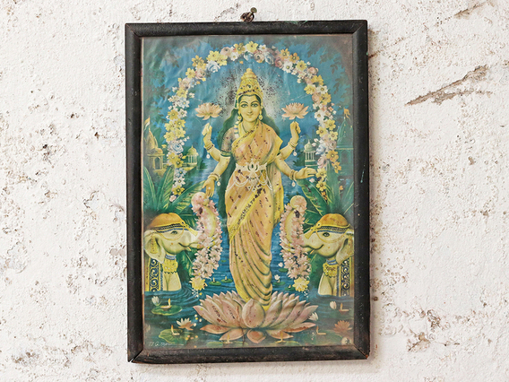 View our  Vintage Indian Print - Goddess Lakshmi from the   collection