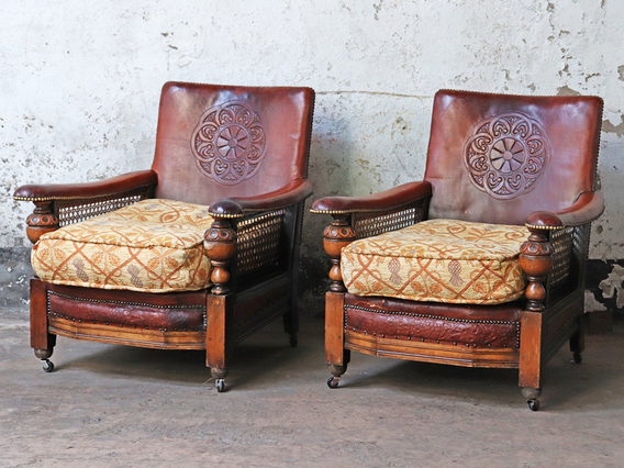 View our  Vintage Leather Armchairs from the  Sold collection
